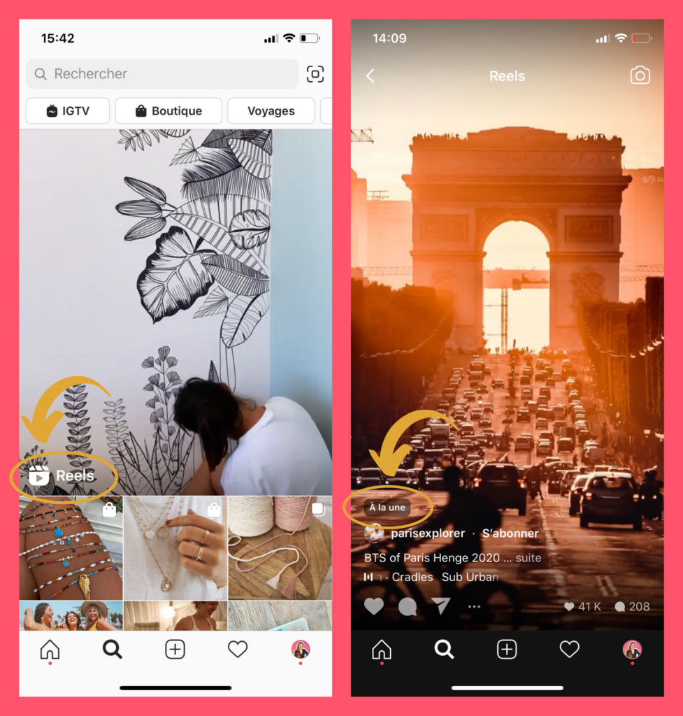 Instagram Reels, Nouveauté Instagram, Page Explorer, A la une